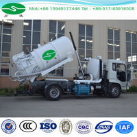 Dongfeng 4x2 7cbm Stainless Steel Sewage Suction Tanker Truck