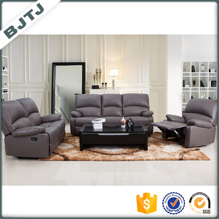 BJTJ Function reasonable price recliner modern leather sectional sofa 70616