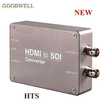 Portable Heavy Duty Aluminum Housing HDMI to SDI Mini Converter with Standard 1/4 screw threads for installing