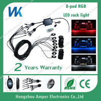 9w 8pcs white high power led rock light kit for Jeep, Truck, ATV,SUV car interior decoration accessories