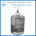 Deluxe Stainless Steel Round Bird Cage Updated Version with Golden Dragon Hook