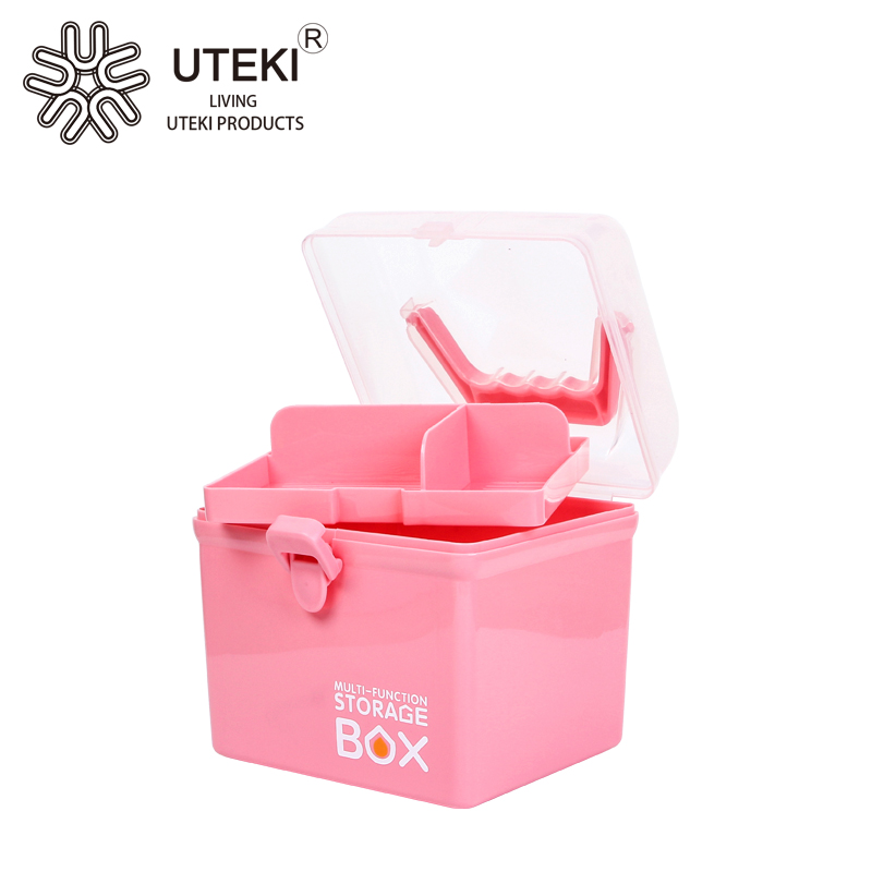 Hot sell creative two layer lady cosmetic storage bins