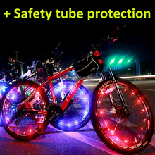 Waterproof colorful 20 led decorative bicycle bike wheel light string with pipe