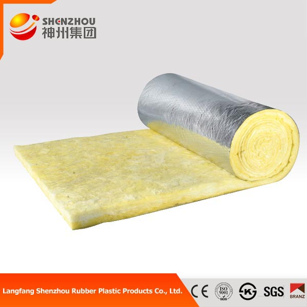 soundproof high density formaldehyde-free Glass Wool roll with aluminum foil
