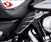 TOP quality and sevice Chinese factory provided abs motorcycle mid frame air deflector with chrome trim for harley