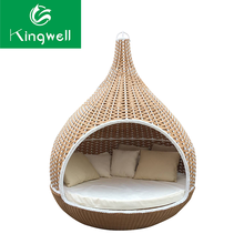 Wicker hanging bed outdoor swing sets for adults swing hanging chair