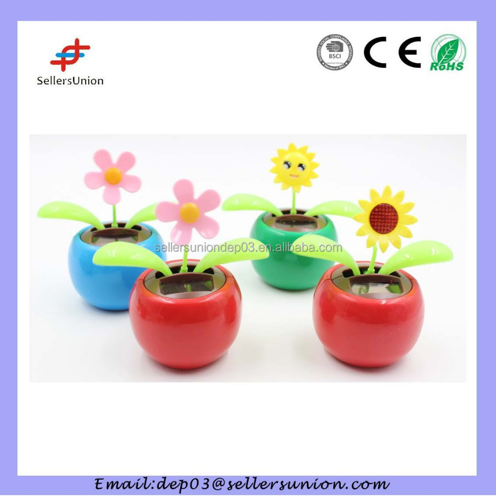 dancing plant solar powered toy car decoration accessories