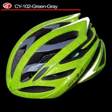 Lightness double bicycle helmet white with green cycling helmet CY-102