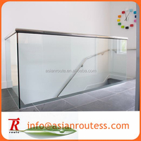 frameless tempered glass used pool fence/veranda fences design