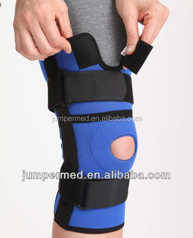 Neoprene functional adjustable spring orthosis knee brace, stock availability