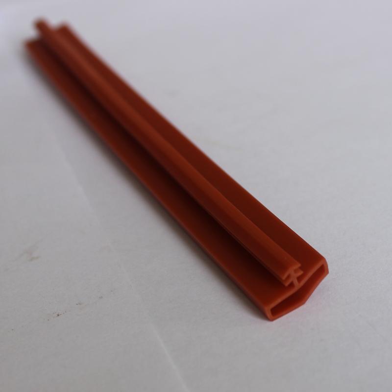 Copper strip door seal with