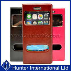 Best Sale Hot Pink For iPhone6 Two Window Book Case