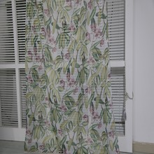 Custom made Dubai room divide paper printing voile curtain panel