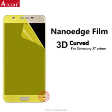 Hot New Premium 3D Curved Full LCD HD Smooth Yellow Packaging Screen Protector For Samsung J7 Prime