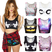 custom sublimation print seamless sport tank top womens backless sexy gym wear yoga tank top