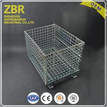 Custom Size Large Shipping Wire Mesh Container with Pallet