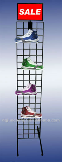 Gridwall Tower Shoe Display