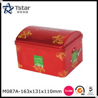 High quality house shape music metal tin box