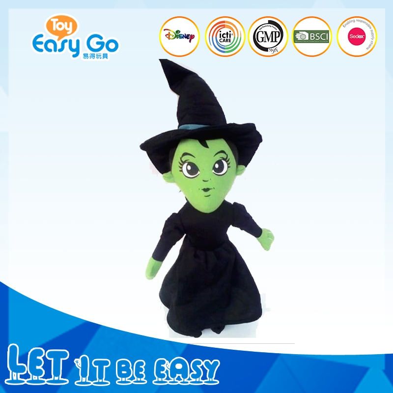 Promotional new design OEM stuffed toy stuffed witch monster halloween gift