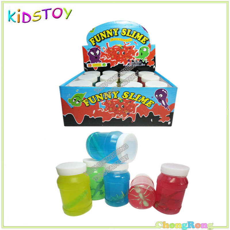 55x87mm Funny Crystal Slime With Insects Toys