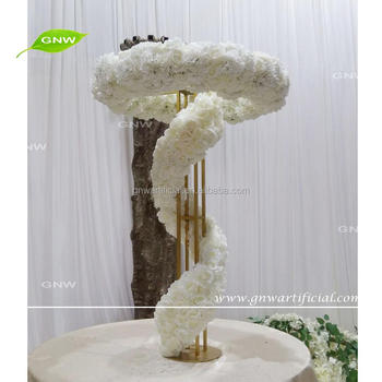 GNW CTR1707004 New fashion wedding decor white rose and hydrangea flower ring centerpieces