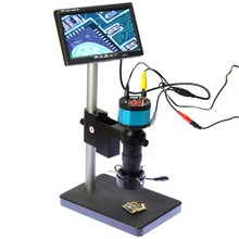 "2.0MP HD 2in1 Industry Digital Microscope Camera + 7"" LCD Monitor + Stand Holder + C-Mount Lens"