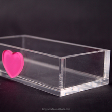 unique decorative acrylic candy holder, acrylic business card storage box with 100% clear small size