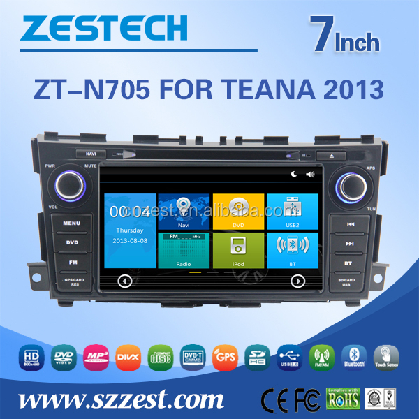 New two din touch screen car dvd gps for Nissan teana with built in gps navigation