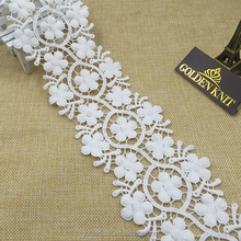 hot sale 100%polyester border lace for dress