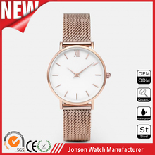 2016 Hotsales simple stainless steel japanese movt custom mens watches with your logo