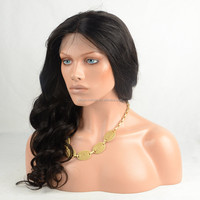 Promotion body wave brazilian middle part human hair lace front wigs for sale