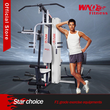 Multi function station gym with iron weight stack