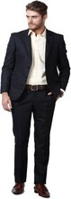 Men's Two Button Regular Fit Formal Dress suits in Black / coat pent / Blazer