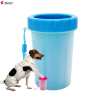Best selling pet dog foot washer pet paw cleaner cup with silicone cleaning brush