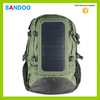 China fashion green travel hiking solar power backpack for men, lightweight solar panel bag