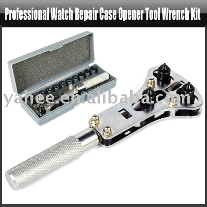 Professional Watch Repair Case Opener Tool Wrench Kit,YFT109A