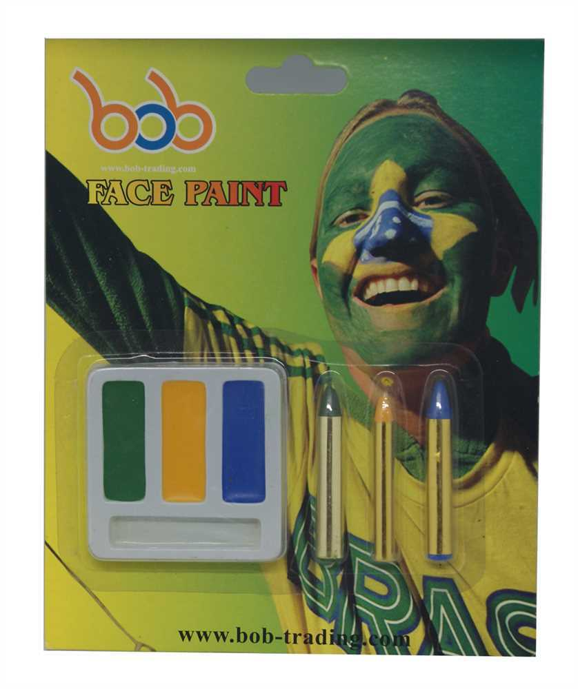 Brazilian World Cup face paint cutter blade fuda