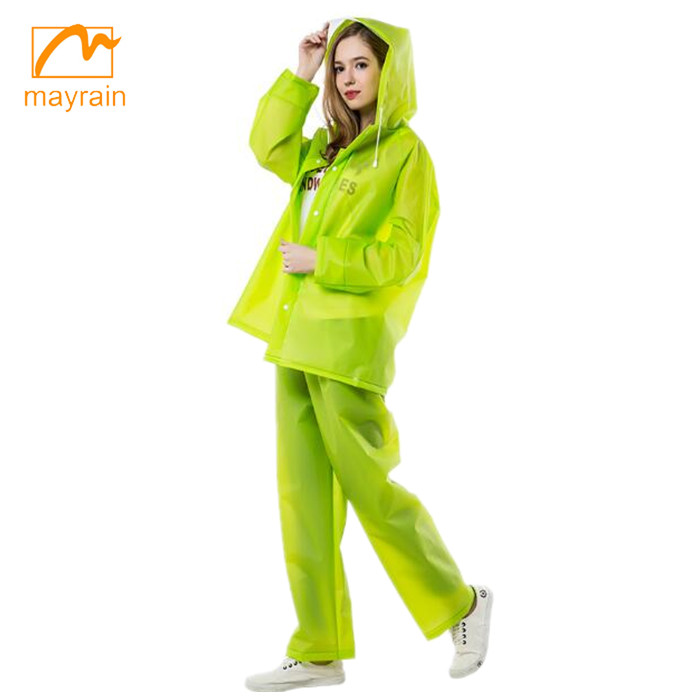 emergency motorcycle green pvc rainsuit