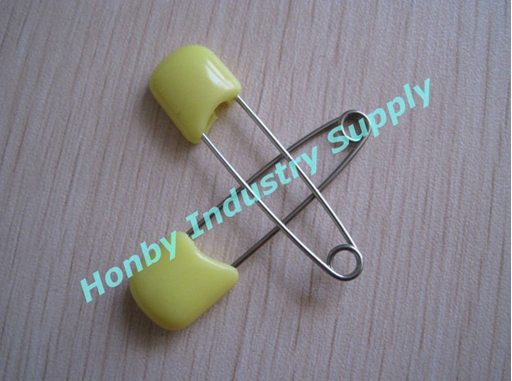 44mm Pale Yellow cute baby cloth diaper pins from China