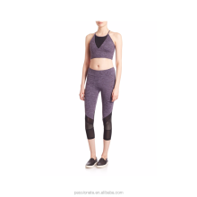 Lady mesh contract transparent breathable yoga sets gym wear