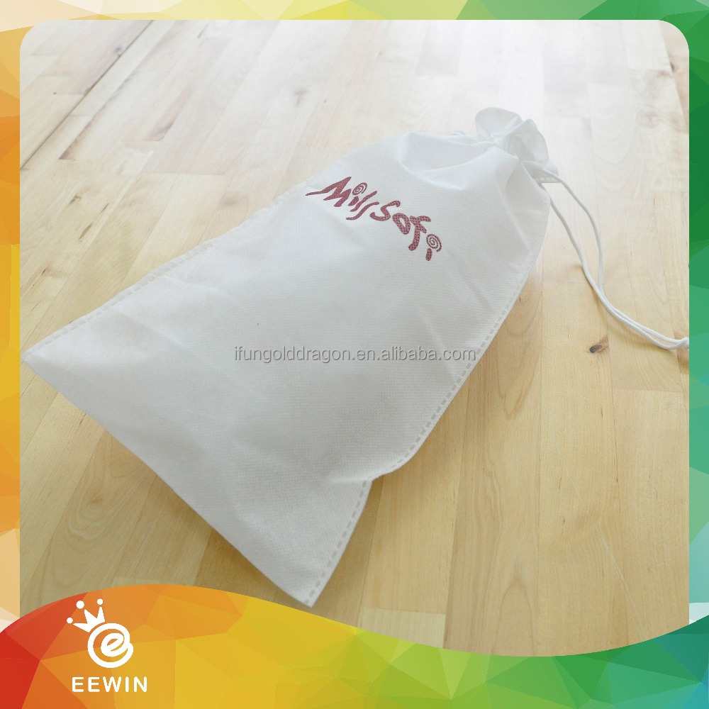 Custom Calico Cloth Cotton Drawstring Dust Bag Covers for Handbags
