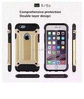 2016 New Arrival and Fashionable 2 in 1 Armor cell phone case for iphone 6 6s PC+TPU cell phone cover