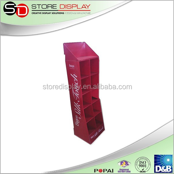 cardboard floor displays standee for silk relational product retail