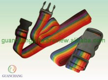 PP rainbow color luggage belt