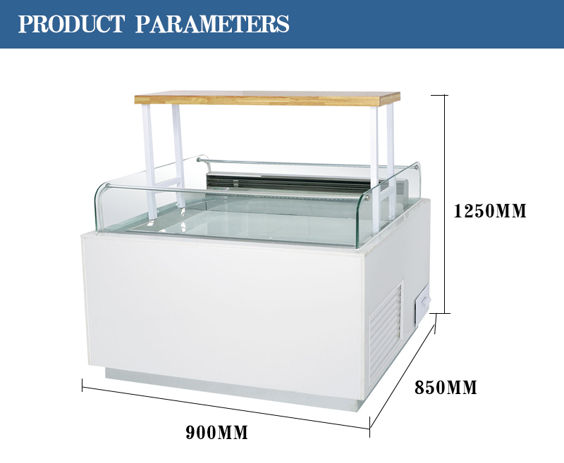 LVNi hotel restaurant bakery refrigerated sandwich display refrigerator fridge cooler cabinet counter showcase