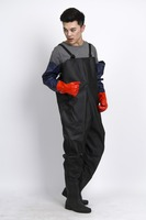 Best quality adult pvc long rain ponchos for adult,customized logo Fishing wader pants set