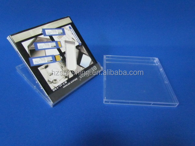 plastic hard book shaped boxes for advertisement usb flash pen drive