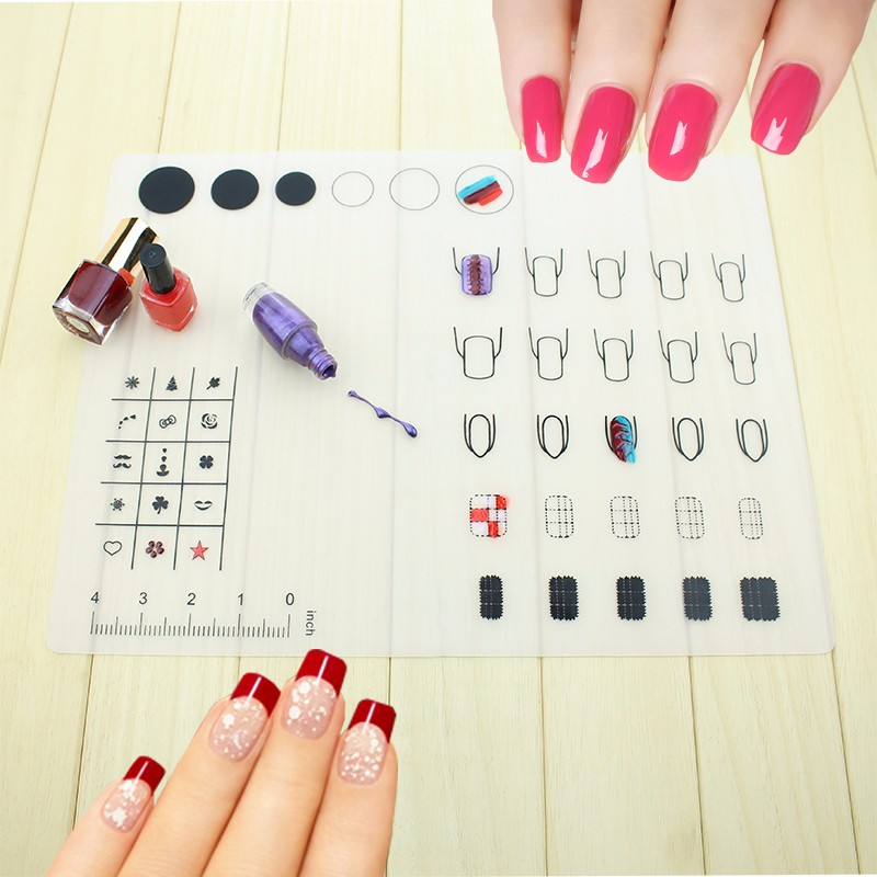 Protects Covers Station Desk From Nail Polish Spill Stain Silicone Nail Polish Mat