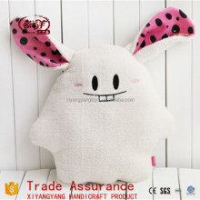 Buck teeth rabbit plush dolls with long ear / cute anime stuffed animal cushion pillow