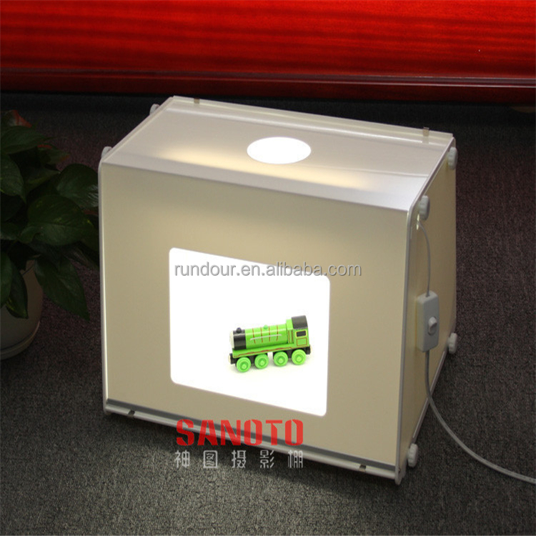 New design LED lamp SANOTO MK50 Mini Photo Studio Photography Light Box Photo Box Softbox Jewelry light boxes